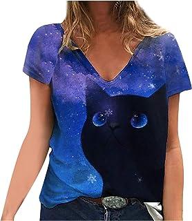 Amazon.es: Azul - Blusas y camisas / Camisetas, tops y blusas ...