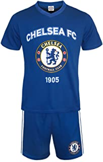 Chelsea FC Official Soccer Gift Mens Loungewear Short Pajamas