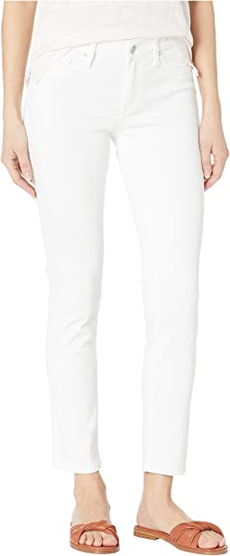 Adriana Mid-Rise Super Skinny Ankle Jeans in Double White Tribeca