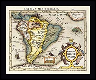 Map of South America by Gerard Mercator 17