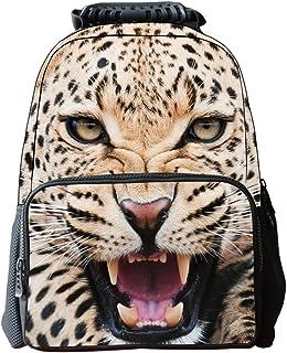 3D Animal Print Mochila Escolar Bag Infantil Multifuncional Pantera