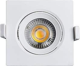 Spot LED 3000K Quadrado, 100-240V Não Dimerizável, Black+Decker, BDS1-0500-03, 7 W