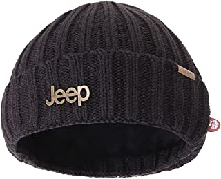 Jeep Warm Thick Knit Beanie Skull Cap with Fleece Inside Beanie Hat for Men & Women Winter Knit Hat