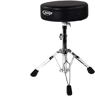 Pacific Drums and Percussion 700 Series Taburete para batería, PDDT700 Redondo, Negro