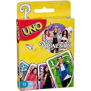 Mattel Games UNO Juegos de Mesa Los Polinesios UNO Youtubers Cartas +7 años