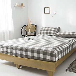 Premium Quality Plain Fitted Sheet, Soft & Cosy Fleece Bed Linen, Bedding, Kingsize Bedsheet,150x200cm