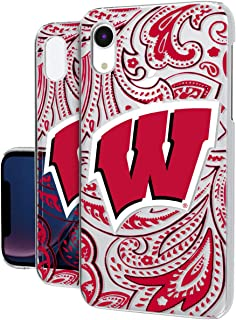 Keyscaper KCLRXR-0WIS-PAISL1 Wisconsin Badgers iPhone XR Clear Case with UW Paisley Design