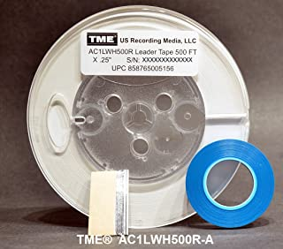 Leader Tape Open Reel Audio Opaque White 1/4 Inch x 500 Ft on 5