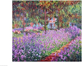 The Artist's Garden at Giverny, 1900 by Claude Monet Art Print, 40 x 30 inches