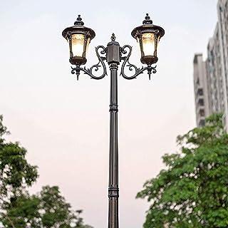 Garden Lamp Post Up Lantern Double Head Aluminium Antirust Patio Path Lighting Fixture E27 Antique Vintage Patio Garden De...