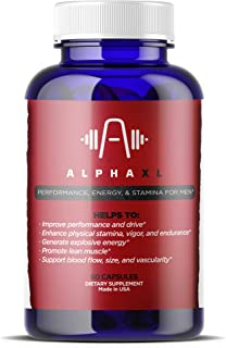 Alpha XL - The #1 Most Potent & Powerful Male Supplement Pills Ideal for Men with Low T Testosterone Levels! All Natural &...