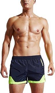 Bañador de Natación Boxer para Hombre, Hombre Bañador Traje de Baño Pantalones Cortos Playa Piscina, con cordón Ajustable Dentro & Bolsillo con Cremallera