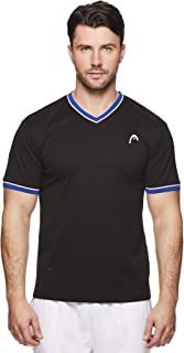 HEAD Men's Mesh V Neck Gym Tennis & Workout T-Shirt - Short Sleeve Activewear Top