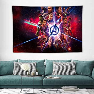 HoMdEfW Wall Art Tapestry Avengers Infinity War Movie Imax Poster 8Z Bed Sheet Picnic Tapestry W72 x L54 inch