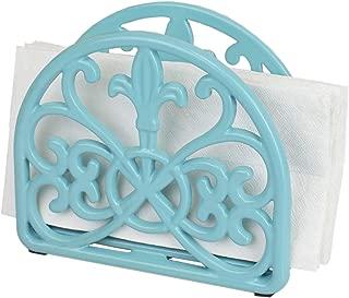 Home Basics Cast Iron Fleur De Lis Napkin Holder Kitchen Countertop Dinner Table Indoor & Outdoor
