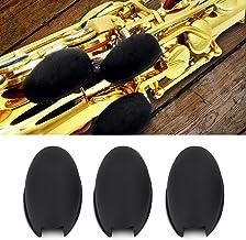 3pcs/lot Saxophone Rubber Thumb Rest Palm Key Pads Cushions Finger Protector Tools for Soprano Alto Tenor Sax Wind Instruments Black