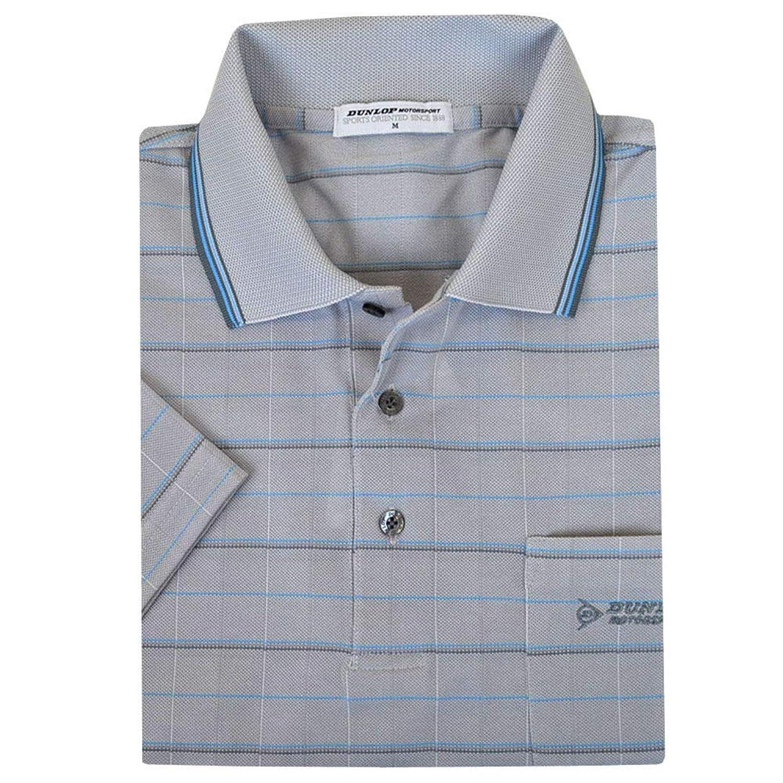 ポロシャツ メンズ 半袖 DUNLOP(ダンロップ) ガンビート格子 男性用 メンズポロ 「ギフトBOX入り」 fo-193d054h