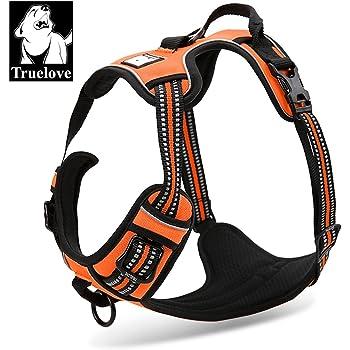 TRUE LOVE Adjustable No-Pull Dog Harness Reflective Pup Vest Harnesses Comfortable Control Brilliant Colors Truelove TLH5651