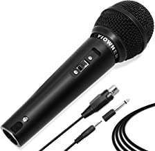 Yiowner Wired Karaoke Microphone for Singing, Handheld Microphone with 3.0m Cable, Vocal Dynamic Mic for Speaker, AMP,Mixe...