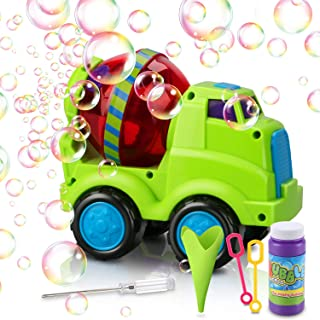 Magicfun Bubble Machine, Automatic Bubble Blower with Bubble Solution 800+ Bubbles per Minute Kids Bubble Toys Boys Girls Gifts Durable Car Bubble Maker for Outdoor Or Indoor Use