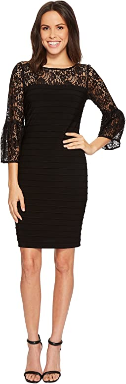 Adrianna Papell - Matte Jersey Lace Dress