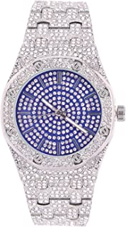 Bling'ed Out Luxury Designer Influenced Iconic Timepiece - Sparkling Round Brilliant Ice, Decorative Screw Designs on Trim are Bringing Hip Hop Fashion to a Whole New Level! - 8651NS
