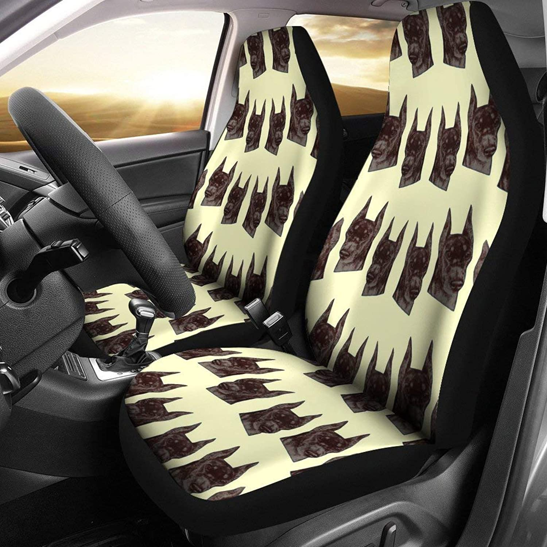 Doberman Pinscher Dog Pattern Print Car Seat Covers