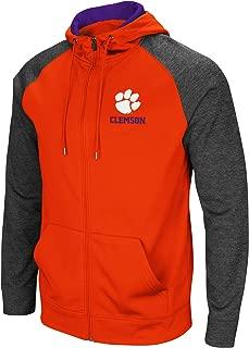 Colosseum Men's NCAA-Overtime- Poly-Fleece Full Zip Up Hoodie Sweatshirt