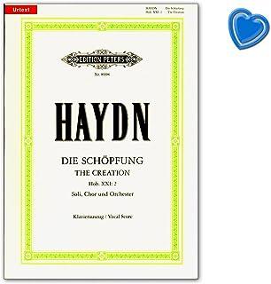 Haydn–La creación–The Creation–Hob. XXI: 2–oratorium para 4solo Voces, Coro y Orquesta–Piano auszug, Urtext salida–con Bunter herzförmiger Ordenador Pinza
