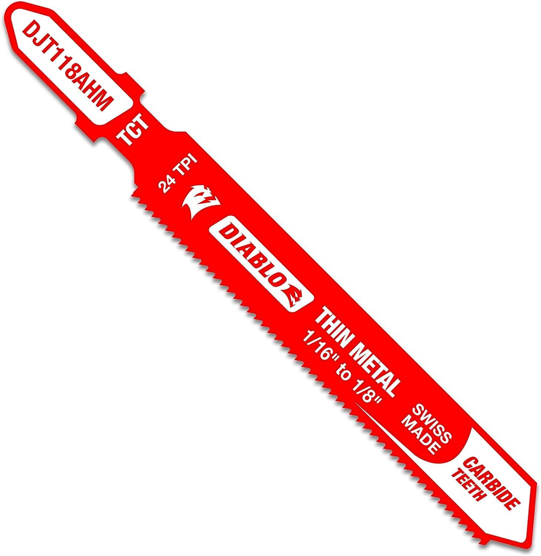 Diablo by Cheap sale Freud DJT118AHM 3-1 4 in. S Carbide T-Shank TPI gift 24 Jig