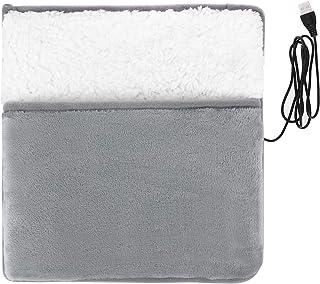Almohadilla térmica eléctrica USB, Zapatillas cálidas, Calentador de Manos/pies de Invierno, Lavable, hogar y jardín, Text...