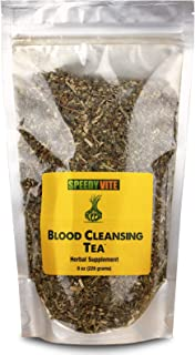 SpeedyVite Blood Cleansing Tea Organic –Cleanses & supports natural removal of excess waste chemicals from the blood stream Chaparral Echinacea Chamomile.. Herbal Supplement (8oz)