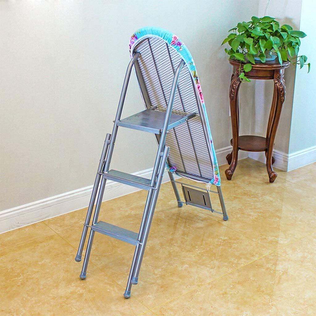 Tabla de Planchar de la Escalera del hogar de Doble Uso, Plegable Tabla de Planchar Grande de Malla de Acero, Azul Plateado Amarillo 94 * 85cm (Color : Blue): Amazon.es: Hogar