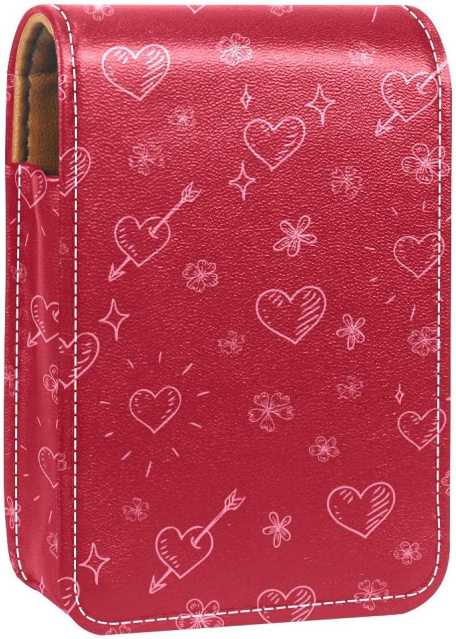 Max 43% OFF Love Ranking TOP17 Arrow Pattern Red Prints Case Holder Mini Lipstick