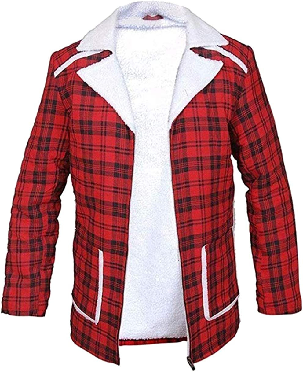 Flannel Checkered Jacket Red Coat Ryan Reynolds Deadpool Wilson Flannel Shearling Coat