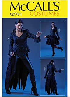 McCall's Patterns M7791A5 Women's Gothic Vampire Halloween Costume Sewing Pattern, Sizes 6-14