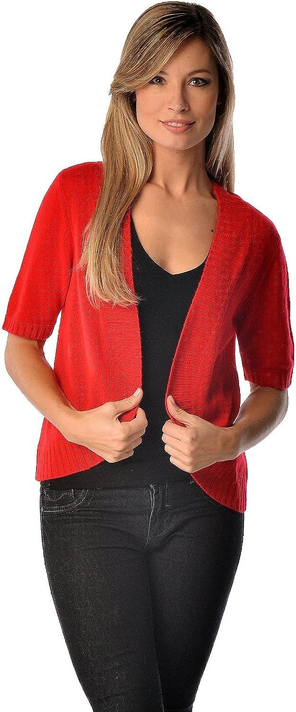 gift Cashmere Boutique: 100% Import Pure Short Front Cardigan Open