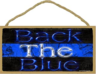 Back The Blue Thin Blue Line Police Cop Distressed Sign 5