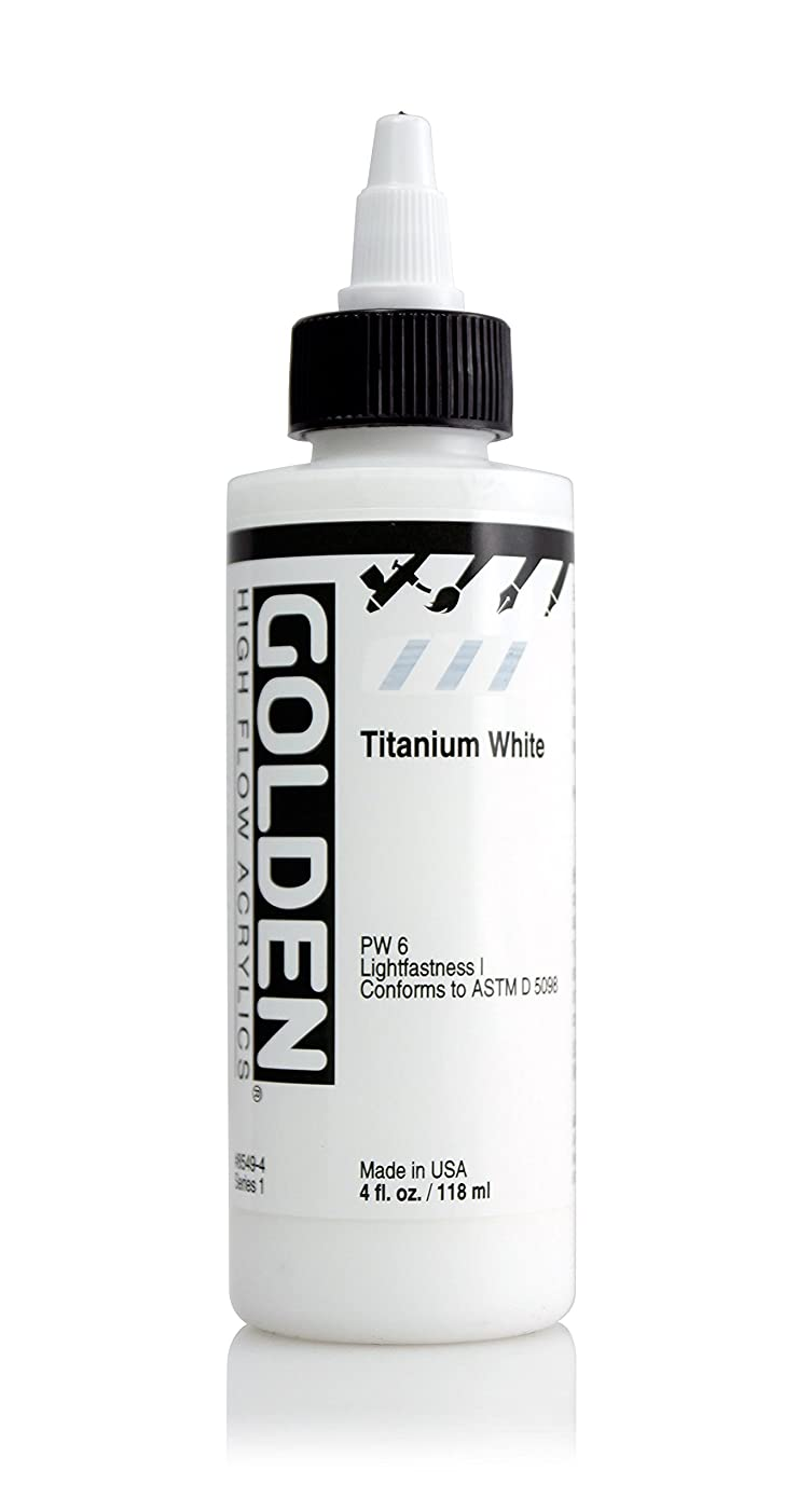 4oz. High Flow Acrylic Paint Color: Titanium White