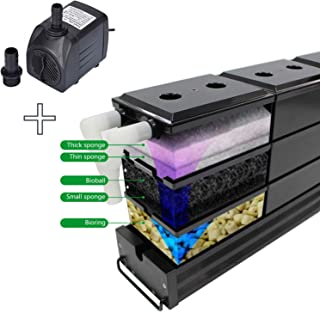 AE SHOP Aquarium Canister Fish Tank Filter Cartridge for 1.8-2.2 Feet Tank, Black