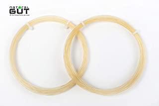 n.g.w. ATP V5(+) Natural Gut Tennis Racquet String Clear Natural Color