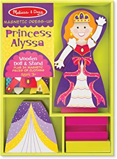Melissa & Doug Princess Alyssa Wooden Dress-Up Doll and Stand - 34 Magnetic Accessories