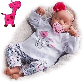 JIZHI Lifelike Reborn Baby Dolls Soft Body 17 Inch Realistic Newborn Baby Dolls Real Life Baby Dolls with Toy Accessories ...