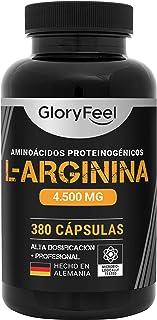 L Arginina Pura 4500mg - 380 Cápsulas - L-Arginina HCL Natural y Sin Aditivos - Suplemento
