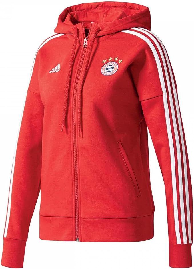 adidas FCB 3s FZ HD W FC Bayern Monaco Felpa Donna : Amazon.it ...