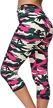 A-Wintage Women's Ultra Soft Printed Capri Leggings 3/4 Length High Waisted Yoga Leggings