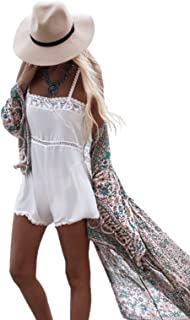 4dba85b837 Women's Summer Blouse Loose Kimono Floral Print Cardigan Chiffon Beachwear  Dress