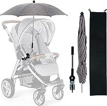Universal Sonnenschirm Sonnenschutz für Kinderwagen & Buggy, Universal Sonnenschirm kinderwagen, Kinderwagen Regenschirm Wasserabweisend, Kinderwagen Sonnenschirm mit Gerader Schirmgriff