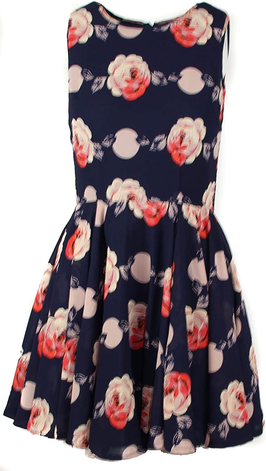 Maison Jules Women's Floral Print Fit and Flare Dress