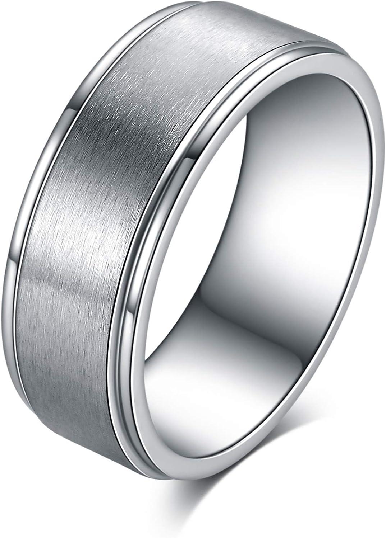 Ofeiyaa Titanium Steel Rings for specialty shop Wedding Ba Women Engagement Men Max 71% OFF